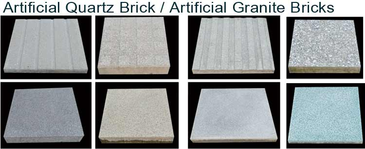 Artificial granite bricks