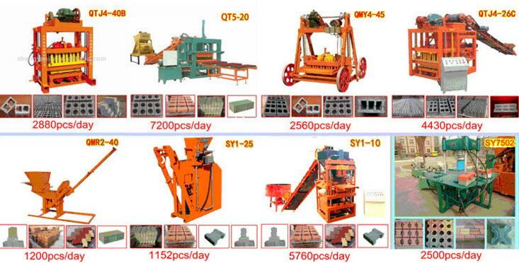 Movable block machine manual brick machine