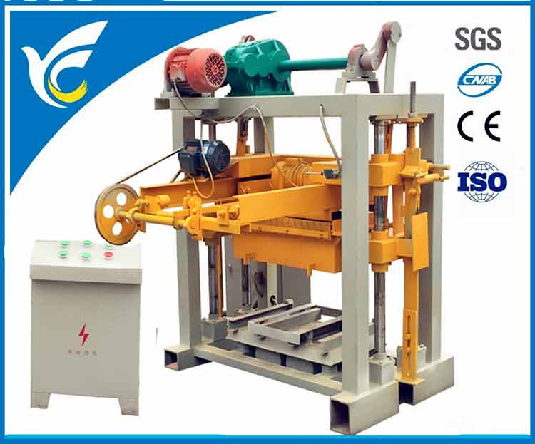 QT40-2 small concrete block machine cement brick machine