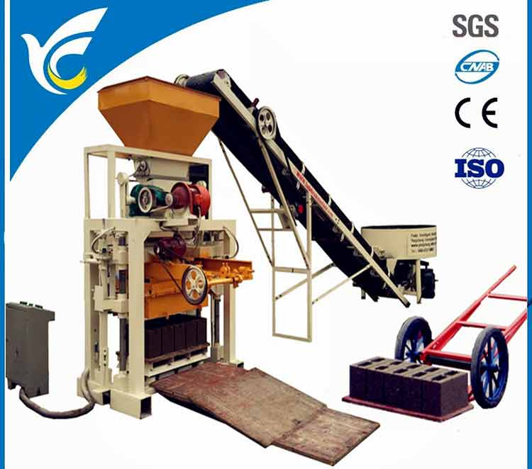 QT40C-1 semi automatic concrete block machine